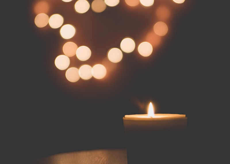 Light a candle for a few minutes before you go to bed when dealing with sleep issues