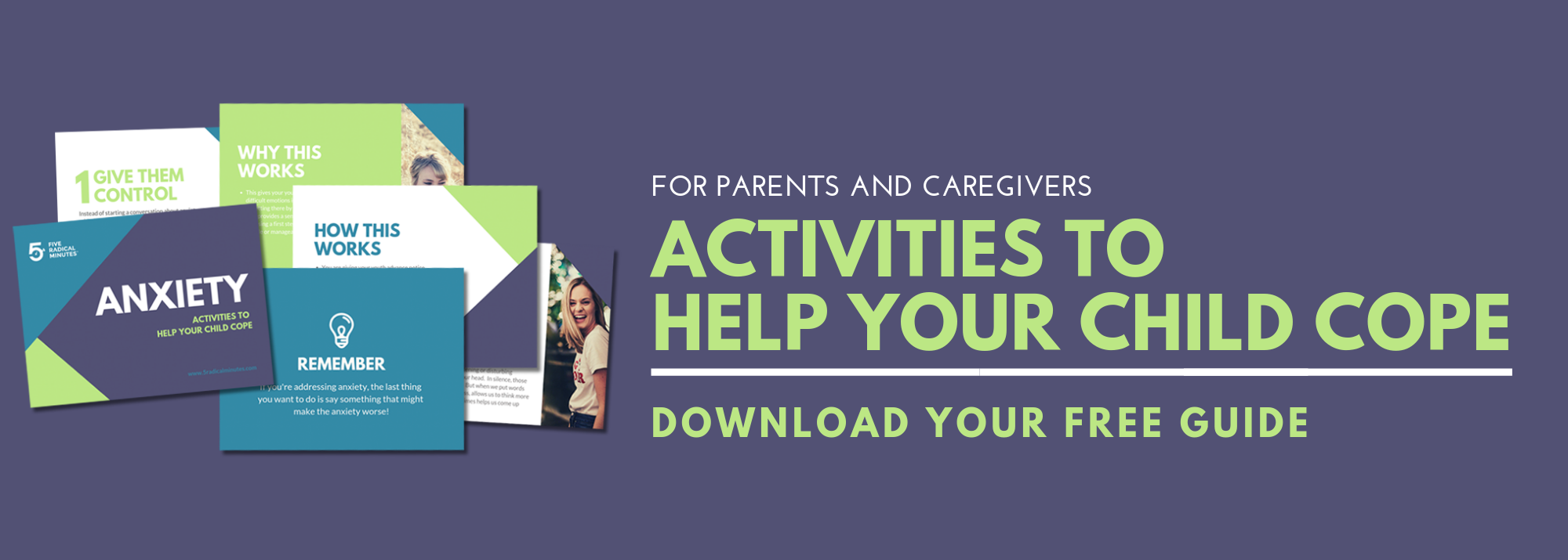 Activities to help your child cope with anxiety